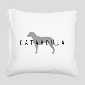 4-3-catahoula dog grey Square Canvas Pillow