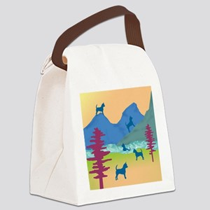 mountain chihuahuas wd2 Canvas Lunch Bag
