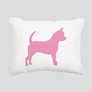 chihuahua dog pink Rectangular Canvas Pillow