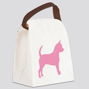 chihuahua dog pink Canvas Lunch Bag
