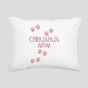 chihuahua mom pink Rectangular Canvas Pillow