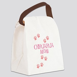 chihuahua mom pink Canvas Lunch Bag
