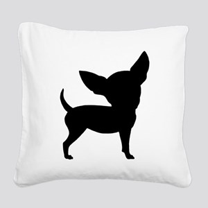 Funny Cute Chihuahua Square Canvas Pillow