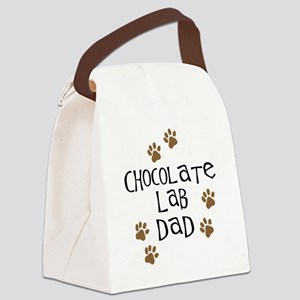 Chocolate Lab Dad Canvas Lunch Bag