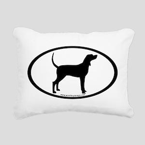 Coonhound #2 Oval Rectangular Canvas Pillow