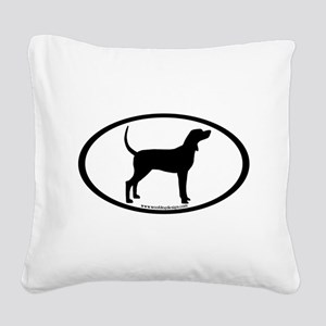 Coonhound #2 Oval Square Canvas Pillow