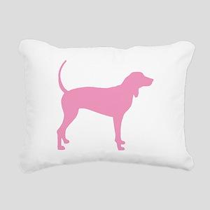 Pink Coonhound Rectangular Canvas Pillow