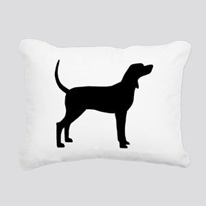 Coonhound Dog (#2) Rectangular Canvas Pillow