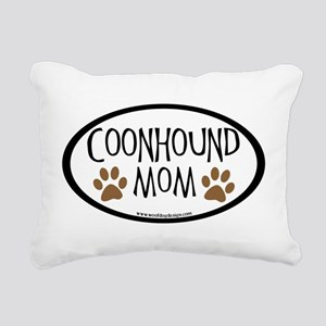 coonhound mom oval Rectangular Canvas Pillow