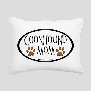 coonhound mom oval Rectangular Canvas Pillow