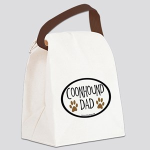 coonhound dad oval Canvas Lunch Bag