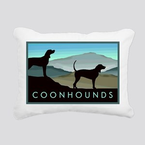 Blue Hills Coonhounds Rectangular Canvas Pillow