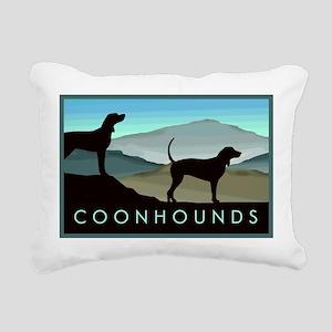 Blue Hills Coonhounds Rectangular Canvas Pillow