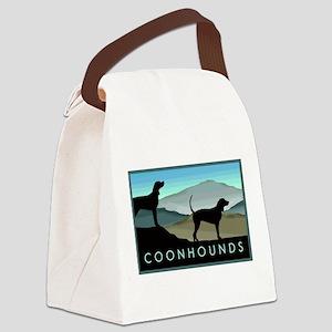 Blue Hills Coonhounds Canvas Lunch Bag