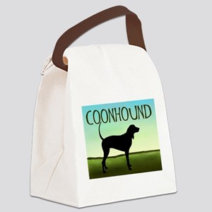 coonhound blue sky wide Canvas Lunch Bag