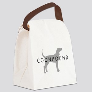 coonhound silver Canvas Lunch Bag