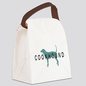 coonhound text Canvas Lunch Bag