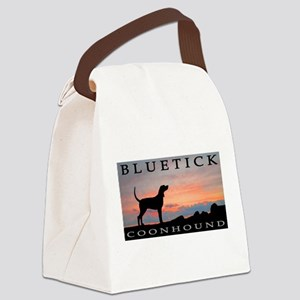 sunset coonhound bluetick 2 Canvas Lunch Bag