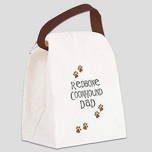 Redbone Coonhound Dad Canvas Lunch Bag