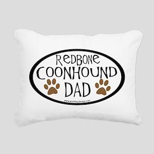 redbone coonhound dad Rectangular Canvas Pillo