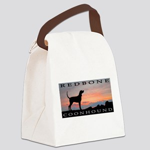 sunset coonhound redbone Canvas Lunch Bag