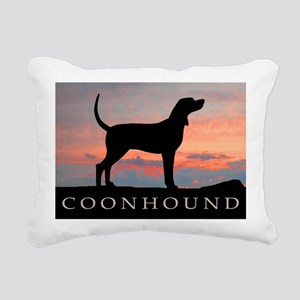 coonhound sunset Rectangular Canvas Pillow
