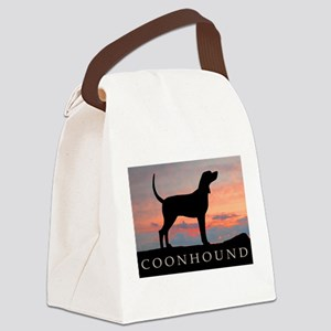 coonhound sunset Canvas Lunch Bag