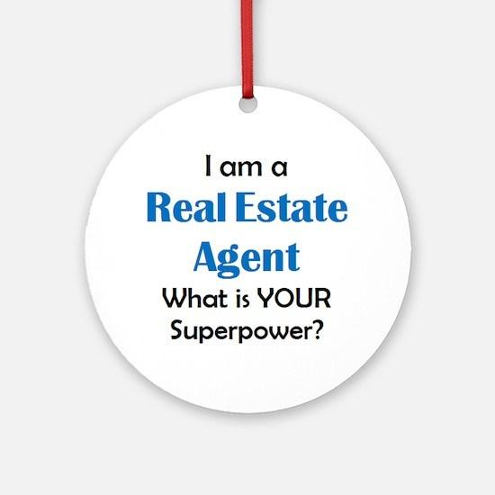 real estate agent Round Ornament