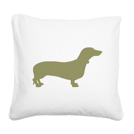 dachshund sage.png Square Canvas Pillow