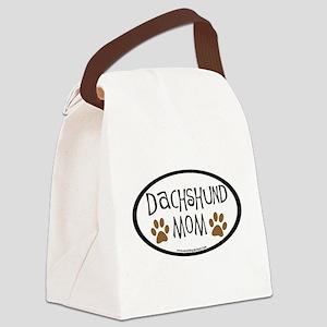 Dachshund Mom Oval Canvas Lunch Bag