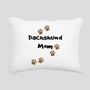 2-dachshund mom Rectangular Canvas Pillow