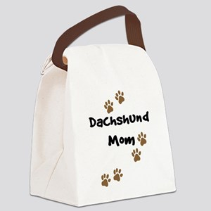 2-dachshund mom Canvas Lunch Bag