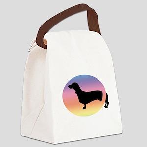 come-and-go dachshund rainbow jpg Canvas Lunch