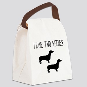 i have two weenies two tr Canvas Lunch Bag