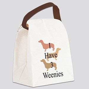 I Have 3 Weenies Canvas Lunch Bag