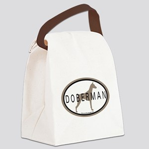 doberman oal #2 Canvas Lunch Bag