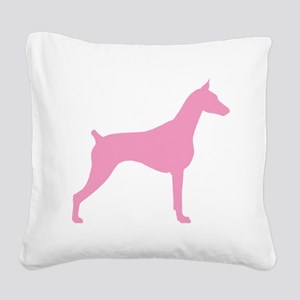 doberman pink Square Canvas Pillow