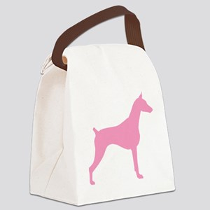 doberman pink Canvas Lunch Bag