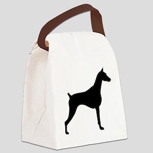 doberman black Canvas Lunch Bag