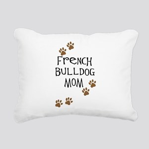 2-french bulldog mom Rectangular Canvas Pillow