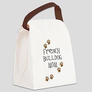 2-french bulldog mom Canvas Lunch Bag