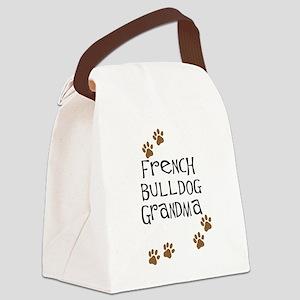 2-french bulldog grandma Canvas Lunch Bag