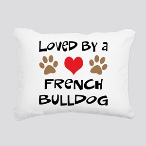 3-french bulldog Rectangular Canvas Pillow