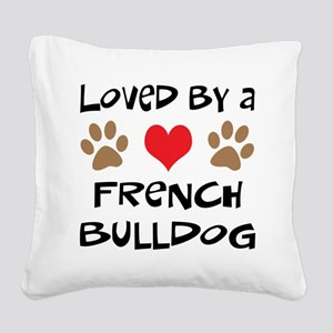 3-french bulldog Square Canvas Pillow