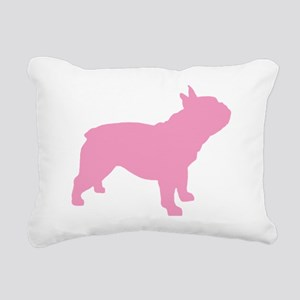 french bulldog pink Rectangular Canvas Pillow