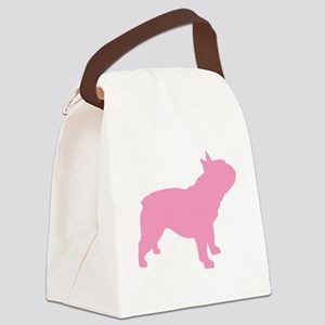 french bulldog pink Canvas Lunch Bag