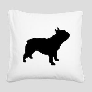 French Bulldog Square Canvas Pillow
