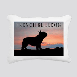 french bulldog sunset wdtx4 Rectangular Canvas