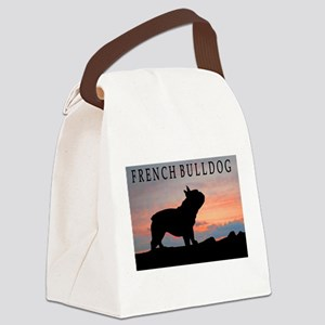 french bulldog sunset wdtx4 Canvas Lunch Bag