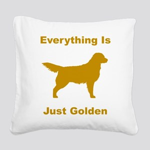 just golden dkr Square Canvas Pillow